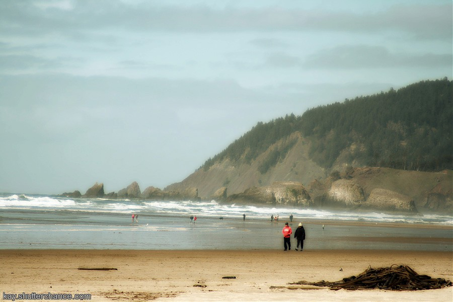 photoblog image This couple is in several of my Canon Beach pics