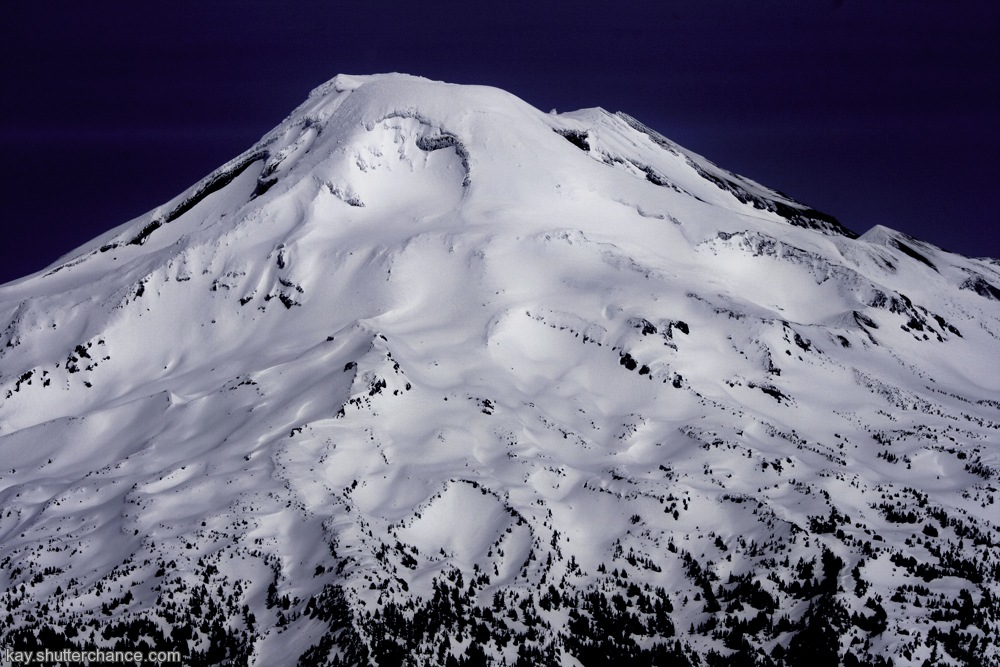 photoblog image aerial view of one mountain in the Cascades