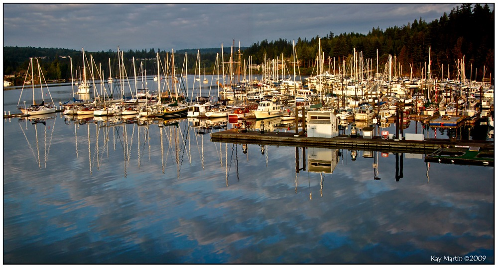 photoblog image Morning at the Port Ludlow marina