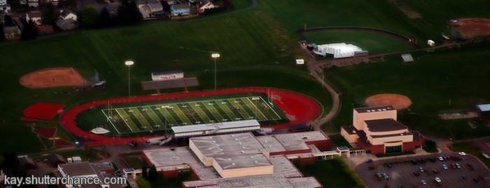 photoblog image Over a Football Field